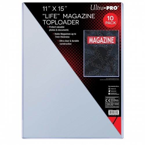 Ultra Pro Life Magazine Toploaders 82313 Pack Of 10 Rlif