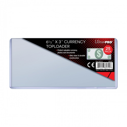 Ultra PRO Currency Toploaders 82315 (Pack Of 25) RDBS